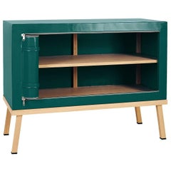 Visser and Meijwaard Truecolors Dresser or Credenza in Green PVC Cloth