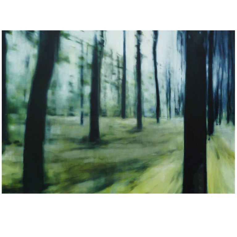 "2016 Chiara Tagliazucchi Oil on Canvas Contemporary Painting ""Pathless wood..."""