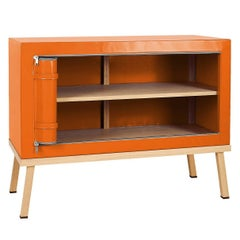 Visser and Meijwaard Truecolors Dresser or Credenza in Orange PVC Cloth