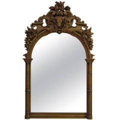 Exceptional Hunting Lodge Mirror, France, 19th Century
