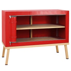 Visser and Meijwaard Truecolors Dresser or Credenza in Red PVC Cloth