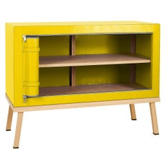 Visser and Meijwaard Truecolors Dresser or Credenza in Yellow PVC Cloth