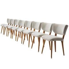 Reupholstered Italian Cavatorta Chairs, circa 1950