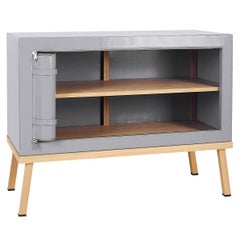 Visser and Meijwaard Truecolors Dresser or Credenza in Grey PVC Cloth