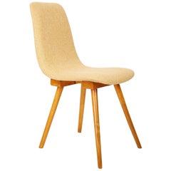 20th Century, Fameg, yellow vintage chair, 1960s, Poland.