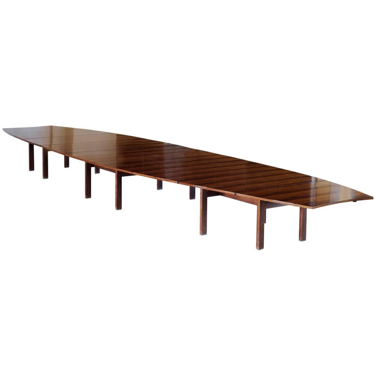 A.J. Iversen 7.6mt/25ft Conference Table in Rosewood by