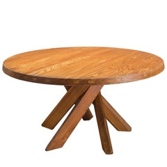 Pierre Chapo T21 Dining Table in Solid Elm