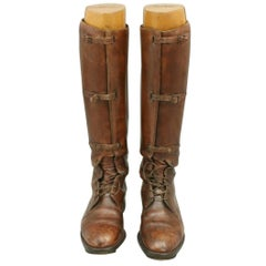 Brown Leather Field, Riding Boots