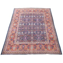 Antique Tabriz Carpet, Wide Border