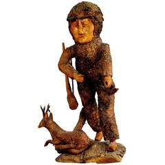 Rustic Black Forest Root Wood Hunter Statue, circa 1920