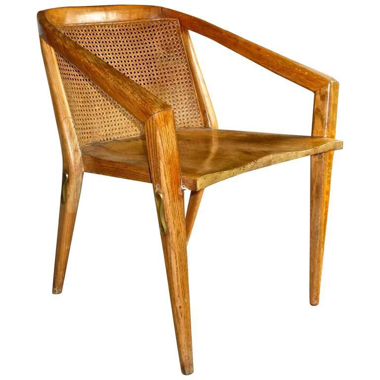 Harold Schwartz Oak Armchair Romweber Manufacture