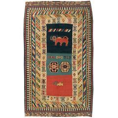 Antique Persian Kilim Flat-Weave Rug