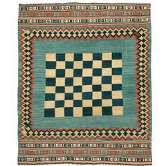 Vintage Persian Kilim Flat-Weave Rug