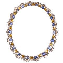 Buccellati Sapphire & Diamond Gold Necklace