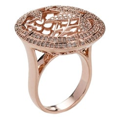 Jade Jagger Opium Bamboo Diamond and Rose Gold Ring