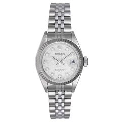 Rolex Ladies White Gold Stainless Steel Datejust Automatic Wristwatch Ref 79174