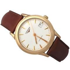 Longines Flagship 18k Rose Gold Gent's Wrist Watch - Vintage Circa 1990
