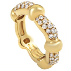 Boucheron Diamond 18K Yellow Gold Band Ring size 5.5