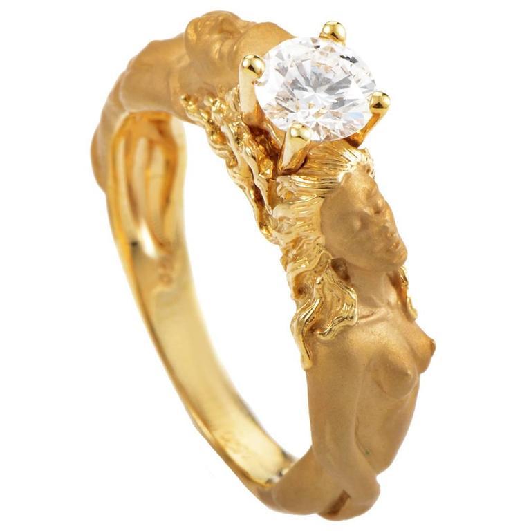 Carrera y Carrera Diamond Gold Engagement Ring
