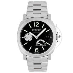 Luminor Panerai Titanium Stainless Steel Power Reserve Automatic Wristwatch