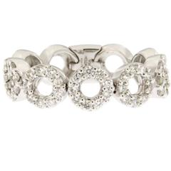Jona Diamond White Gold Flexible Band Ring