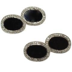 Black Onyx Diamond Cufflinks