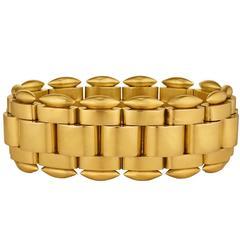 Exceptional Victorian Gold Link Bracelet