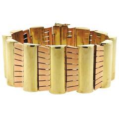 1940s Retro Gold Bracelet