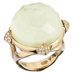 Stephen Webster Chrysoprase Quartz 18 Karat Gold Ring