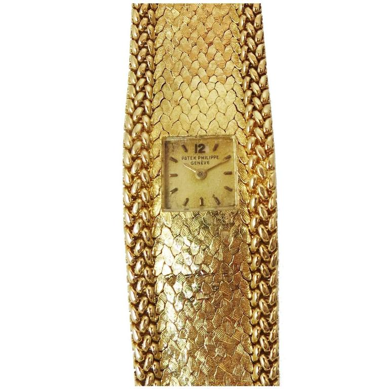 Patek Philippe Lady's Yellow Gold Bracelet Wristwatch