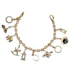 CARTIER 10 Charm Gold Bracelet