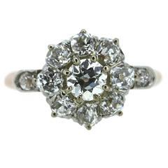 European Cut Diamond Entourage Ring