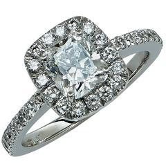 1.29 Carat F/VS2 GIA Diamond Engagement Ring
