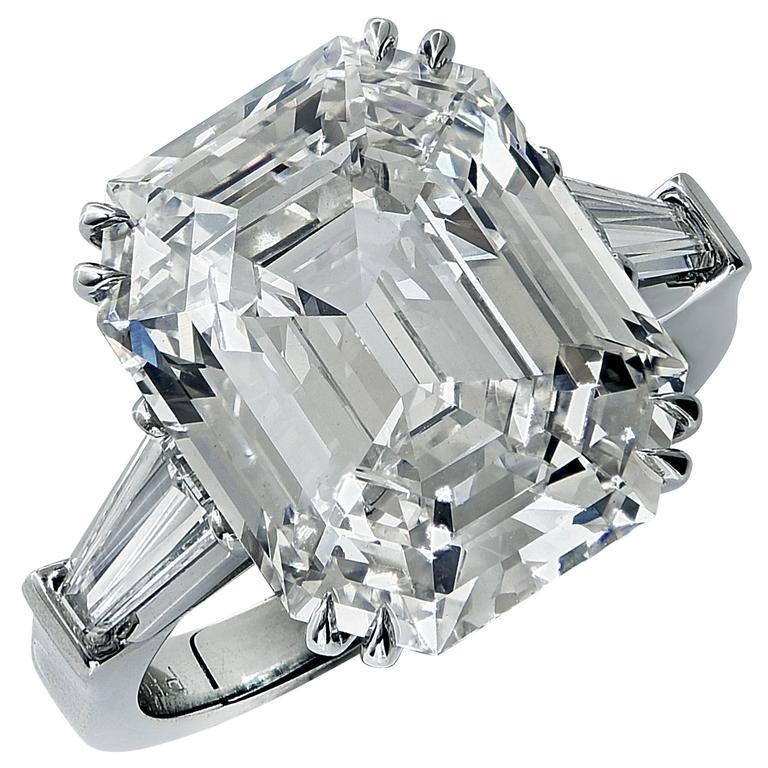 GIA Certified 10.21 Carat Emerald Cut Diamond Engagement Ring 1