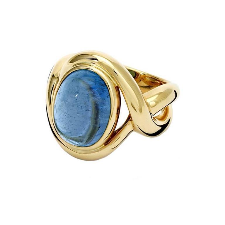 Severine Aquamarine and Gold Ring