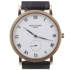Patek Philippe Calatrava Clous de Paris Rose Gold Wristwatch