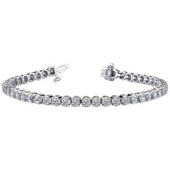 13.00 Carat Diamond Bracelet Set in Platinum