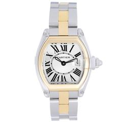 Cartier Ladies Gold Steel Small 30mm Quartz Roadster Wristwatch W62026Y4