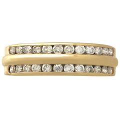 1990s Diamond and Yellow Gold Ring