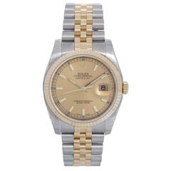 Rolex Datejust Yellow Gold Stainless steel Automatic Wristwatch 116233