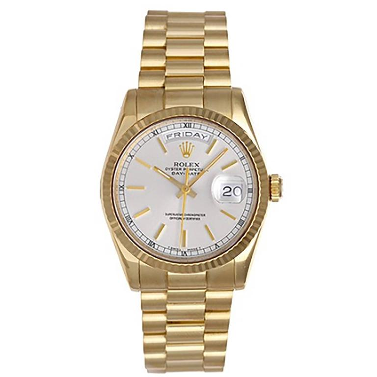 Rolex Yellow Gold President Day-Date Automatic Winding Wristwatch 118238 1