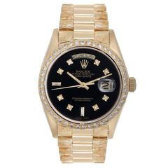 Rolex Yellow Gold Diamond President Day-Date Automatic Wristwatch Ref 18038