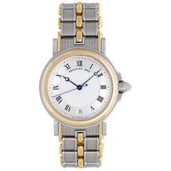 Breguet Marine Yellow Gold Stainless Steel Guilloche Dial Automatic Wristwatch