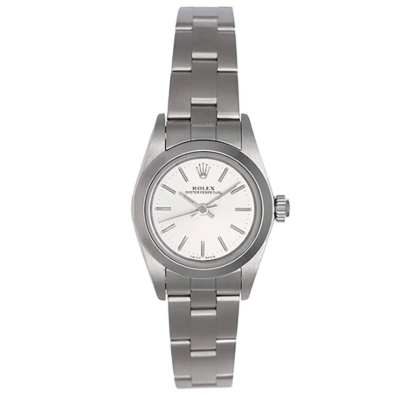 Rolex Ladies Stainless Steel Oyster Perpetual No-Date Automatic Wristwatch 76080