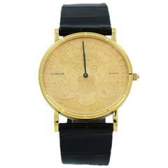 Corum Yellow Gold Diamond 1893 Twenty Dollar Crown Coin Quartz Wristwatch