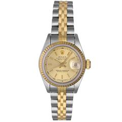 Rolex Ladies Yellow Gold Stainless Steel Datejust Automatic Wristwatch R69173