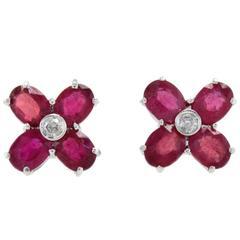 Luise Daisy Ruby & Diamond Earrings