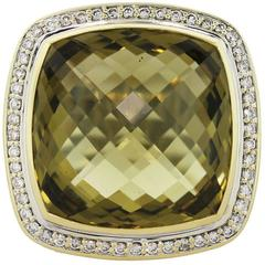 David Yurman 20 mm Albion Lemon Quartz Ring