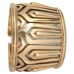 Cartier Two-Color Gold Pharaon Collection Cuff Bracelet