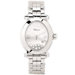 Chopard Ladies Stainless Steel Happy Sport Oval Quartz Wristwatch